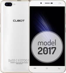 Telefon Mobil Cubot Rainbow 2 16GB Dual Sim Alb + Husa Silicon si Folie Plastic + Husa Flip Telefoane Mobile