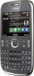 Telefon Mobil Nokia 302 Asha Dark Grey