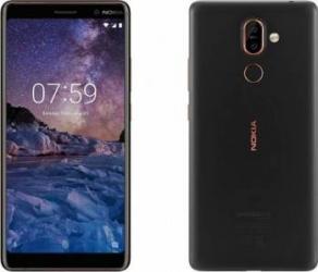Telefon mobil Nokia 7 Plus 64GB Dual Sim 4G Black Copper Resigilat telefoane mobile