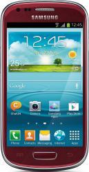 imagine Telefon Mobil Samsung Galaxy S3 Mini I8190 Garnet Red sami8190r