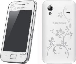 imagine Telefon Mobil Samsung S5830i Galaxy Ace White La Fleur. s5830i la fleur_resigilat