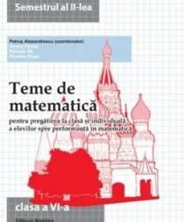 Teme de matematica clasa 6 sem 2 - Petrus Alexandrescu