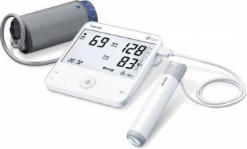 Tensiometru de brat Beurer BM95 cu functie de EKG Alb Tensiometre