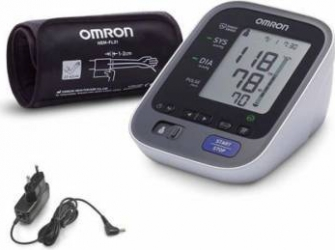 Tensiometru Electronic de Brat Omron M7 Intelli IT Bluetooth 0-299mmHg 40-180 bp Alb + ADAPTOR PRIZA Tensiometre