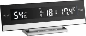 Termo-higrometru cu ceas si alarma iluminat TFA 60.2011 Resigilat