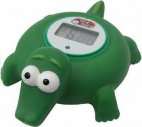 Termometru digital baie Primii Pasi forma animale Verde Cantare, termometre si aerosoli