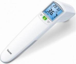 Termometru fara contact FT100 senzor de distanta LED/ton 60 spatii memorie Alb Cantare, termometre si aerosoli
