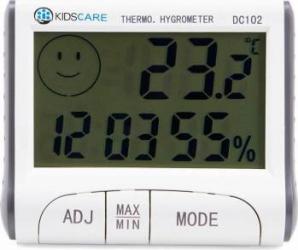 Termometru si higrometru KidsCare DC102 Alb Cantare, termometre si aerosoli
