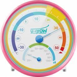 Termometru si Higrometru U-Grow U201TH-P Roz Termometre si Statii meteo