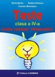 Teste cls 4 Limba romana. Matematica - Silvia Barbu Rodica Dinescu title=Teste cls 4 Limba romana. Matematica - Silvia Barbu Rodica Dinescu