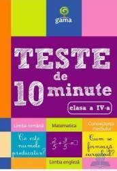 Teste de 10 minute clasa 4