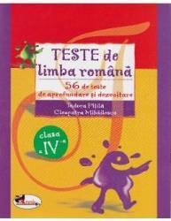 Teste de limba romana cls 4. 56 de teste de aprofundare si dezvoltare - Tudora Pitila Cleopatra Mihailescu