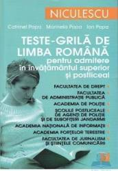 Teste-grila de limba romana Ed.2012 pentru admitere in invatamantul superior - Catrinel Popa Carti