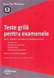 Teste grila pentru examenele de an licenta si admitere in profesiile juridice ed.5 - Iosif R. Urs