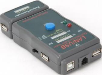 Tester cablu retea UTP STP USB Gembird NCT-2 Accesorii retea