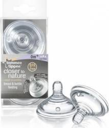 Tetina copii Tommee Tippee Closer to Nature Variable Flow Teats Biberoane, tetine si accesorii