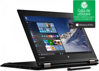 pret preturi Ultrabook ThinkPad X1 Yoga i5-6300U up to 3.00GHz 8GB LPDDR3 180GB SSD M.2 14inch FHD Pen Touchscreen Refurbished Windows 10 Pro