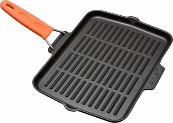 Tigaie grill 21 x 30 cm portocalie - LAVA Vase pentru gatit