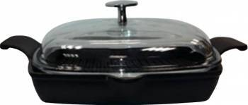 Tigaie grill cu capac 26 x 26 cm - LAVA Vase pentru gatit