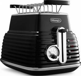 Toaster DeLonghi CTZ 2103.BK Otel Inoxidabil Black 900W Prajitoare