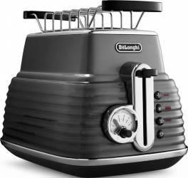 Toaster DeLonghi CTZ 2103.GY Otel Inoxidabil Gri 900W Prajitoare