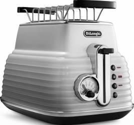 Toaster DeLonghi CTZ 2103.W Otel Inoxidabil Black 900W Prajitoare