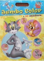 Tom si Jerry - Jumbo color + 50 stickers