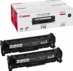 Toner Canon CRG-718 BK Twin Pack 2x3400 pag Cartuse Tonere Diverse
