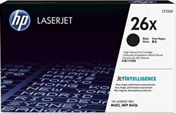 Toner HP 26X Black 9000 pag LaserJet Pro M402 LaserJet Pro MFP M426 Cartuse Tonere Diverse
