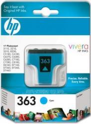 Cartus HP 363 Cyan Ink Cartridge with Vivera Ink Cartuse Tonere Diverse