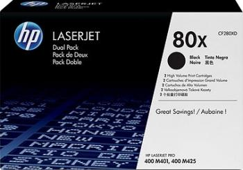 Toner HP 80X LaserJet M401 M425 Black 2 x 6900 pag cartuse tonere diverse