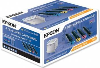 Toner kit Epson Economy Pack CMY 1500 pag. black 4500 pag. AcuLaser C900