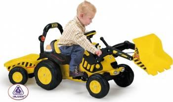 Tractor excavator cu remorca TOONY TRAC Masinute si vehicule pentru copii