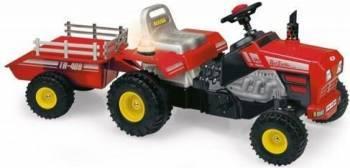 Tractor SUPER TRAC cu pedale si remorca Masinute si vehicule pentru copii