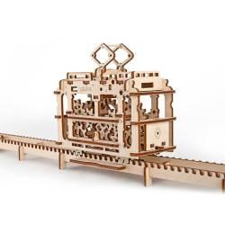 Tramvai cu sine Puzzle 3D UGEARS Puzzle adulti