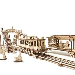 Tramvai cu statie Puzzle 3D UGEARS Puzzle adulti