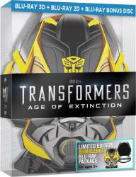 Transformers Age of Extinction BluRay 3D Bumblebee Box Set Filme BluRay 3D