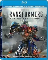 Transformers Age of Extinction BluRay Combo 3D+2D+Disc bonus 2014 Filme BluRay