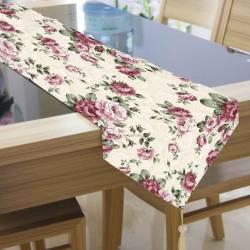 Traversa masa BBC 33x180 cm - Flori Roz Articole pentru servit