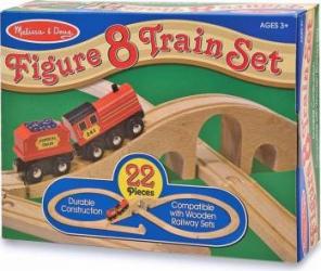 Tren lemn si Circuit 8 Melissa and Doug Machete