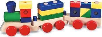 Trenulet din lemn de stivuit Melissa and Doug Jucarii