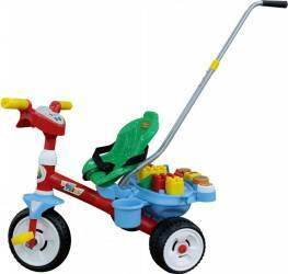 Tricicleta Baby Trike cu maner si set de cuburi Polesie Triciclete