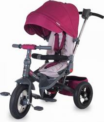 Tricicleta COCCOLLE Corso multifunctionala roti cauciuc, Violet Triciclete