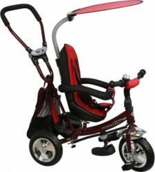 Tricicleta copii cu Scaun Reversibil Baby Mix Safari WS611 Bordo Triciclete