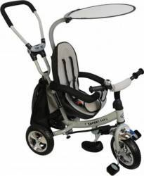 Tricicleta copii cu Scaun Reversibil Baby Mix Safari WS611 Gri Triciclete
