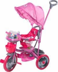 Tricicleta copii Dhs cu roti de metal Merry Ride Roz Triciclete