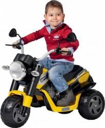 Tricicleta Electrica pentru Copii Peg Perego Ducati Scrambler 6V Galben-Megru Masinute si vehicule pentru copii