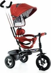 Tricicleta EURObaby cu scaun rotativ T306E - Rosu Triciclete