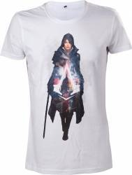 Tricou Assassins Creed Syndicate Evie Frye Alb L Gaming Items