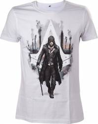 Tricou Assassins Creed Syndicate Jacob Frye Alb L Gaming Items